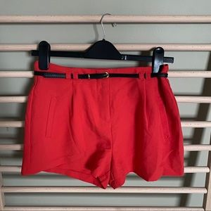 Forever 21 red Shorts with belt